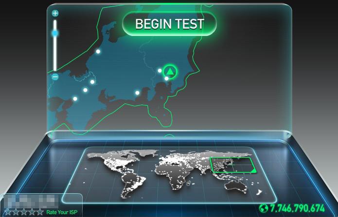 speedtest.netのキャプチャ画像