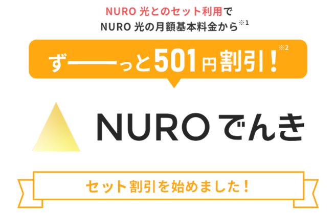 NUROでんきとNURO光のセット割