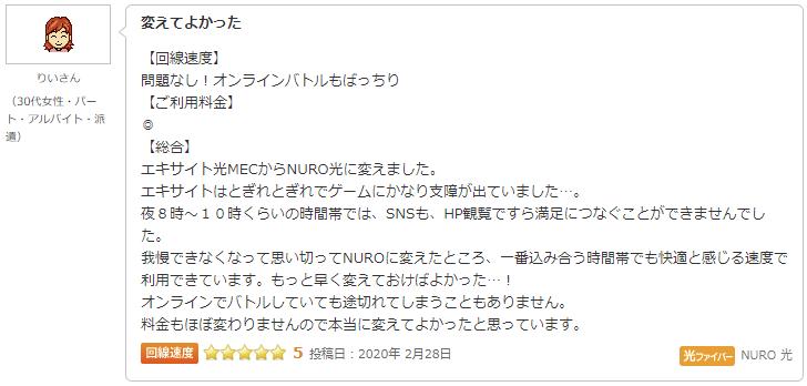NURO光の評判・口コミ