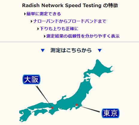 Radish Networkspeed Testing