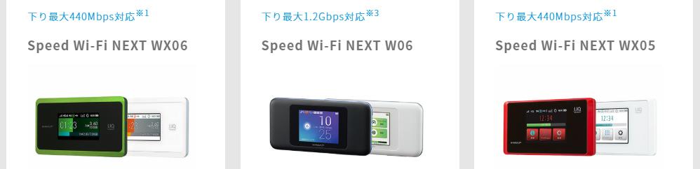 UQ WiMAXのモバイルルーター