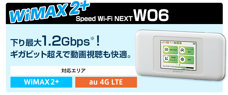 WiMAX2+ W06