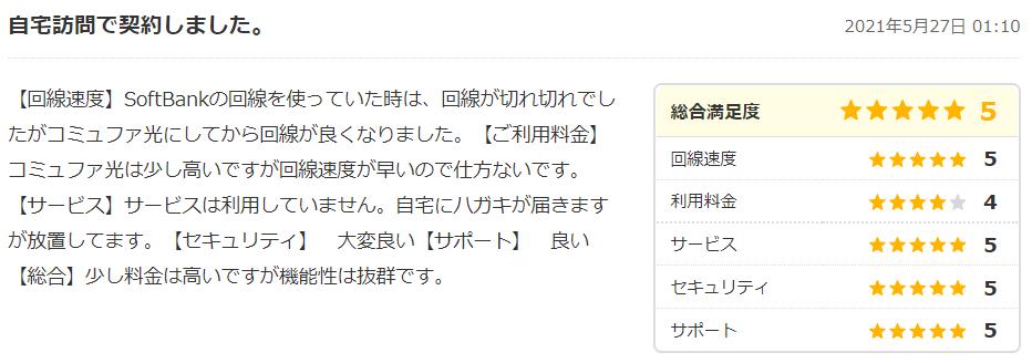 コミュファ光の口コミ・評判2