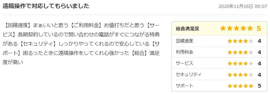 コミュファ光の口コミ・評判4