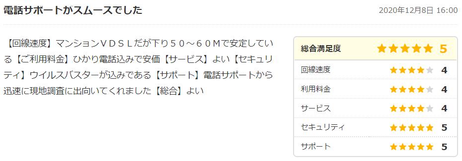 コミュファ光の口コミ・評判5