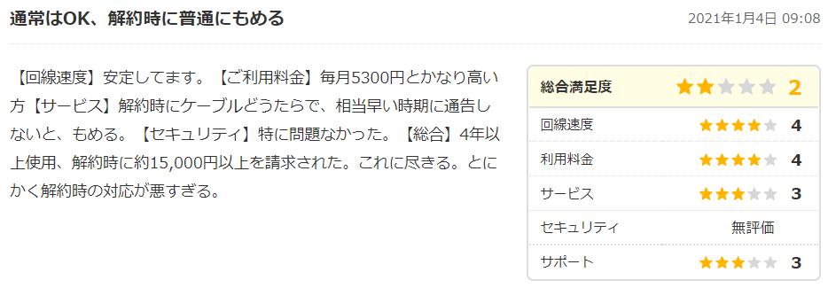 コミュファ光の口コミ・評判6