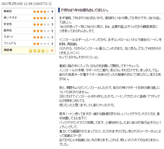 ノートンセキュリティ、ユーザーの評判・口コミその5