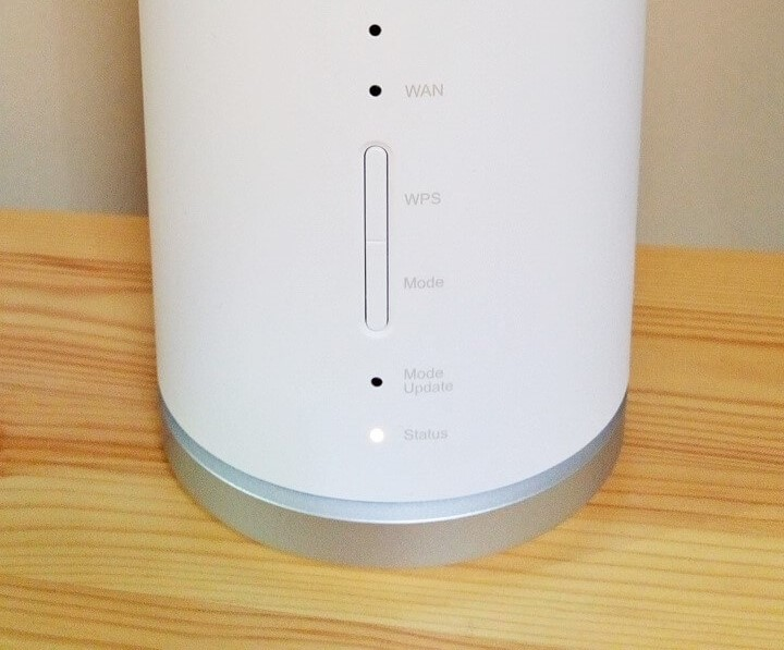 Speed Wi-Fi Home L01の底面