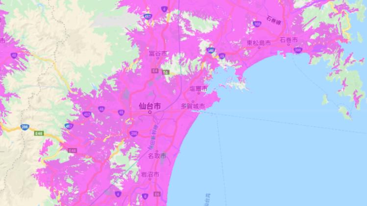 UQ WiMAX_エリア_仙台