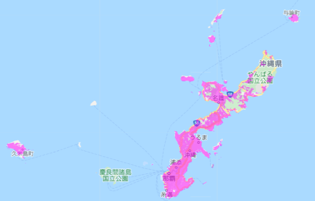 UQ WiMAX_エリア_沖縄