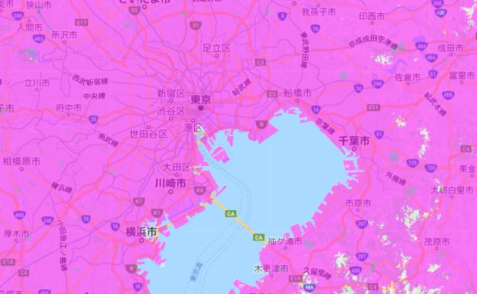 UQ WiMAX_エリア_東京