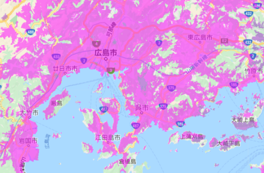 UQ WiMAX_エリア_広島