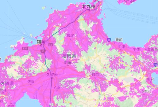 UQ WiMAX_エリア_福岡